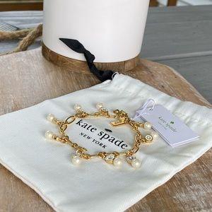 Kate Spade Gold & Pearl Charm Bracelet - NEW!